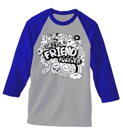 FRIEND FOREVER doodle ~ Kaos Murah Bandung